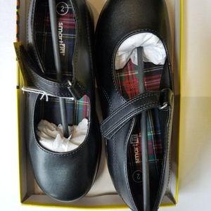 Girl's SmartFit Black Uniform Becki Mary Janes